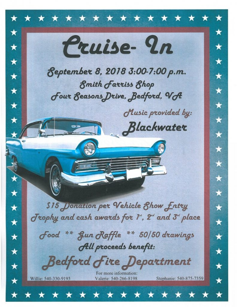 CRUISE-IN: SEPTEMBER 8, 2018